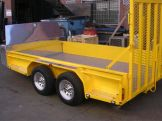 TANDEM AXLE LAWN MOWER TRAILER